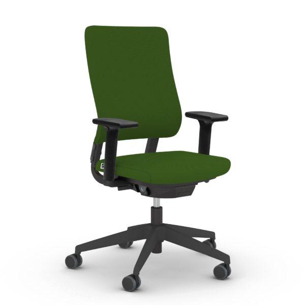 Drehstuhl Drumback Ultraspring Telegrau in der Farbe schwarz-grün